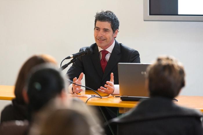 Un Giancarlo Fornei sorridente a Io Bene - prima edizione - marzo 2014