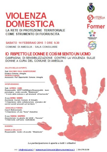 Ad Ameglia (Sp), un Convegno contro la Violenza sulle Donne - tra i relatori il coach motivazionale Giancarlo Fornei...