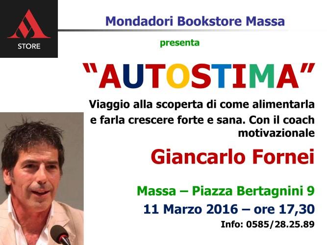 Ti aspetto domani pomeriggio (venerdì 11 marzo 2016) al Mondadori Bookstore Massa con la mia conferenza sull'autostima, ore 17 e 30!!! INGRESSO GRATUITO...