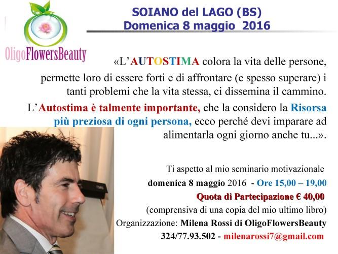 #AUTOSTIMA BASSA? ti aspetto a Brescia domenica 8 maggio per ricaricare le tue pile e fare un pieno motivazionale...