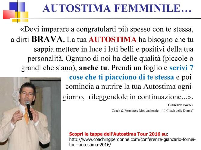 AUTOSTIMA FEMMINILE: scrivi 7 cose belle di te - una frase del coach motivazionale Giancarlo Fornei...