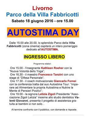 AUTOSTIMA DAY: sabato 18 giugno 2016, a Livorno ospite anche il coach motivazionale Giancarlo Fornei!