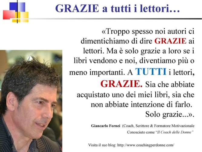 """Il coach motivazionale Giancarlo Fornei dice """"GRAZIE"""" a tutti i lettori..."""