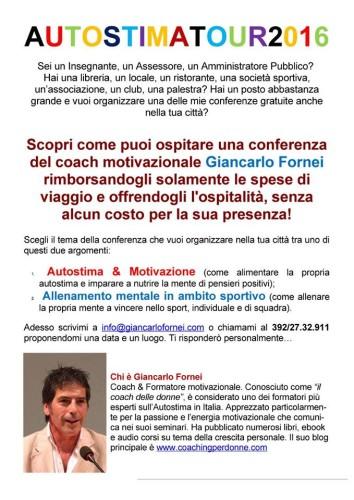 #AUTOSTIMA - come organizzare una conferenza gratuita del coach motivazionale Giancarlo Fornei!