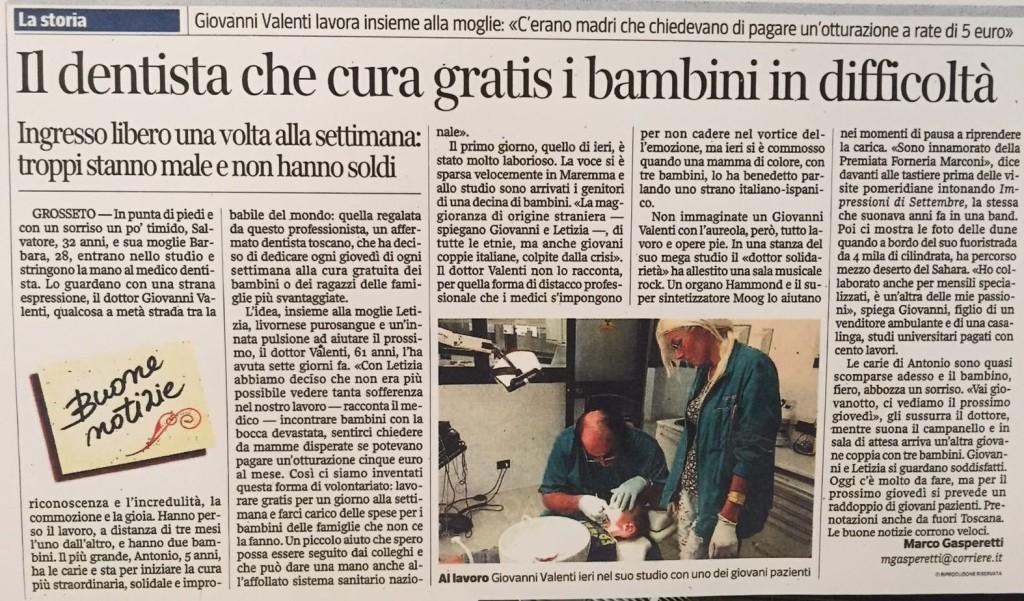 L'articolo del giornalista Marco Gasperetti su Il Corriedere della Sera