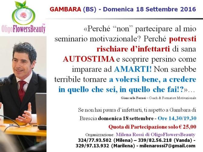 AUTOSTIMA BASSA? Ti aspetto a Gambara di Brescia (domenica 18 settembre 2016) per insegnarti come tornare ad AMARTI!