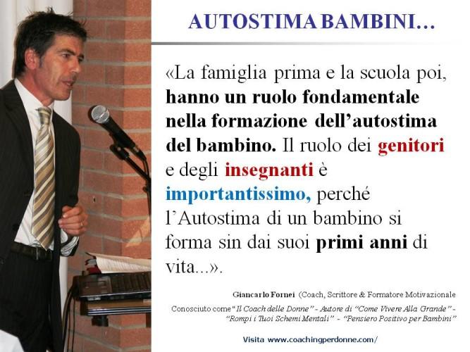 """""""Come posso aumentare l'autostima di mio figlio?"""" – Risponde Giancarlo Fornei: usa la tecnica del parlare al tuo bambino!"""
