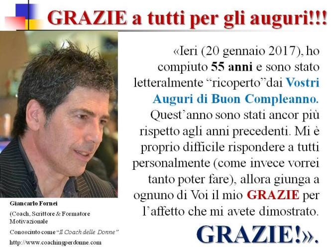 Giancarlo Fornei compie 55 anni: GRAZIE a tutti Voi per gli auguri!
