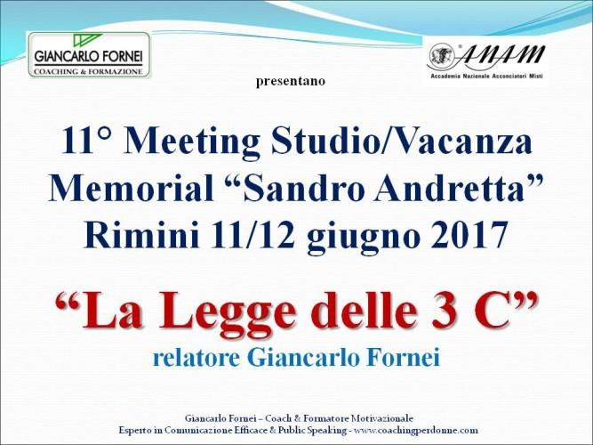 """Giancarlo Fornei a Rimini, ospite dell'A.N.A.M. (Accademia Nazionale Acconciatori Misti) all'11° Meeting Studio/Vacanza Memorial """"Sandro Andretta"""" giugno 2017!"""