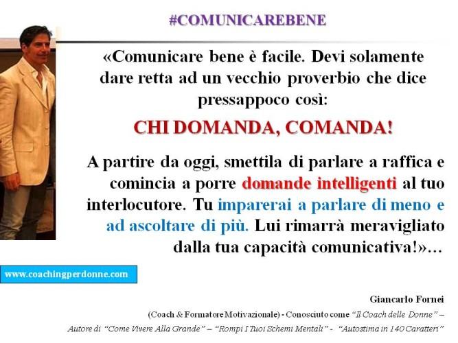 """#ComunicareBene: conosci il detto """"Chi domanda, comanda?""""..."""
