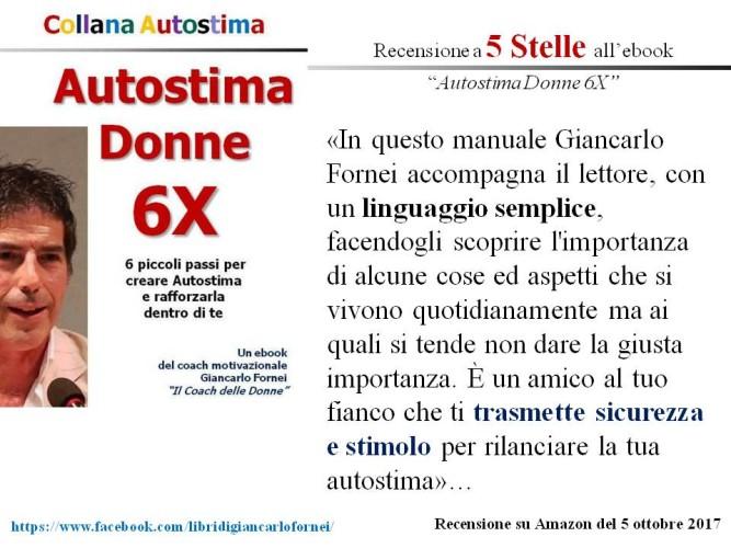 """Autostima Donne 6X, la prima recensione a cinque stelle su Amazon: """"Impara a volerti bene!""""..."""