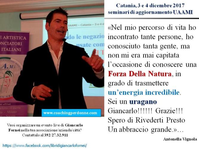 UAAMI - Catania 3 e 4 dicembre 2017 - il pensiero di Antonella Vignola dopo aver partecipato ai seminari di Giancarlo Fornei!