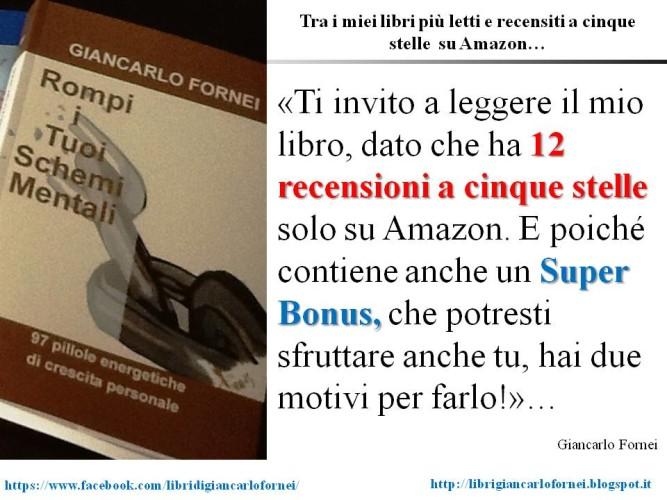 """Ti invito a leggere """"Rompi i Tuoi Schemi Mentali"""", dato che ha ben 12 recensioni a 5 stelle su Amazon!"""