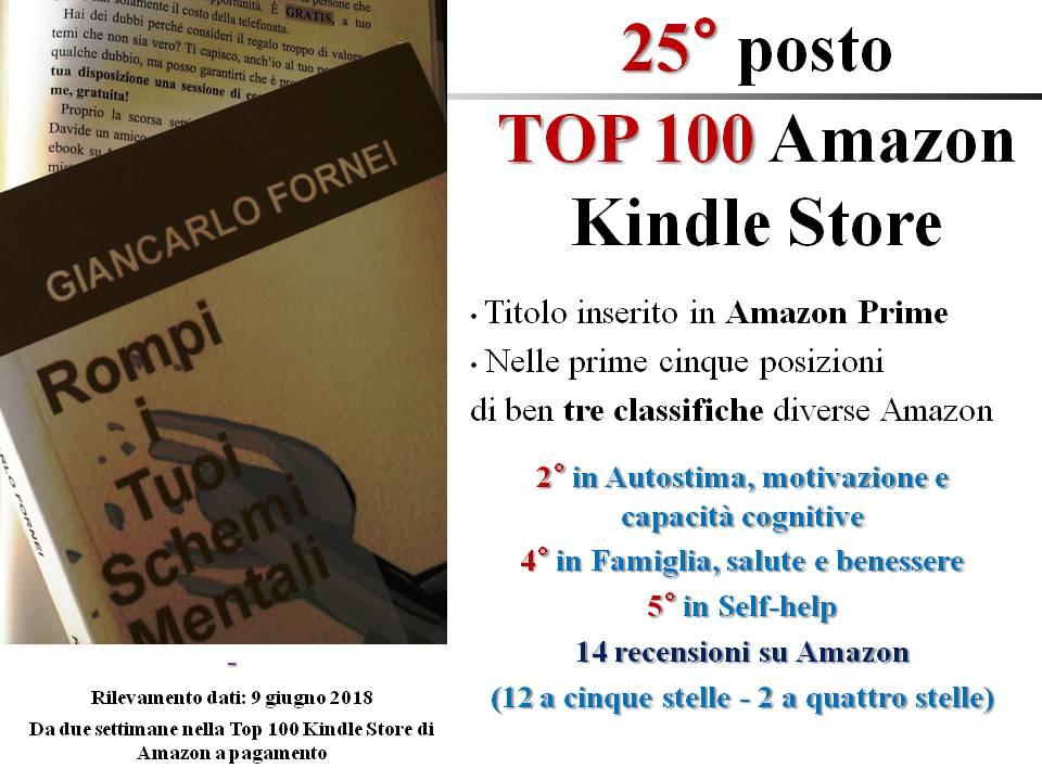 Rompi i Tuoi Schemi Mentali - 25° post TOP 100 AMAZON KINDLE STORE - 9 giugno 2018