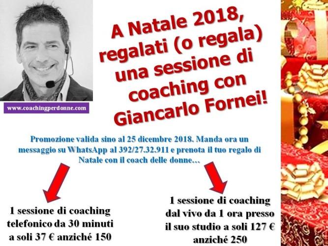 #Natale 2018: regala o regalati una sessione di coaching con Giancarlo Fornei!