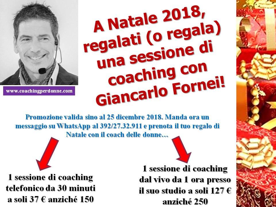 Natale 2018 - regala una sessione di coaching del coach Giancarlo Fornei