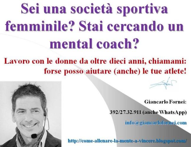 AAA: cercasi società sportiva femminile che sta cercando un mental coach!