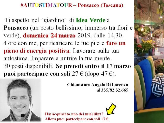 #Autostima: domenica 24 marzo Giancarlo Fornei a Ponsacco (da Idea Verde), con un seminario motivazionale!
