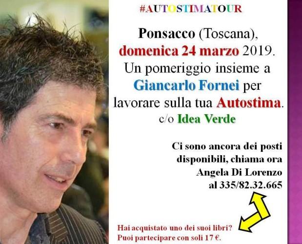 #Autostima - Ponsacco 24 marzo 2019 - un seminario motivazionale con il coach Giancarlo Fornei!