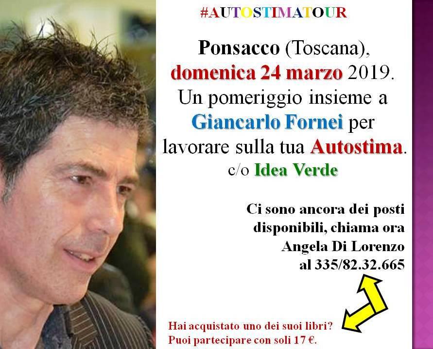 #Autostima – Ponsacco 24 marzo 2019 – un seminario motivazionale con il coach Giancarlo Fornei!