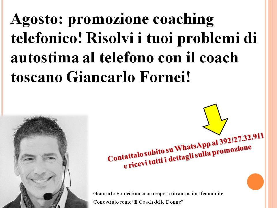 Promozione coaching telefonico (agosto 2019)!