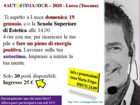 Autostima Seminario Lucca: 19 gennaio 2020 (con Giancarlo Fornei)!