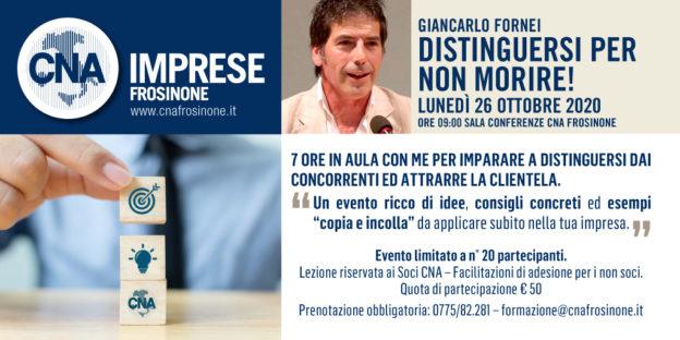 Giancarlo Fornei alla CNA Imprese di Frosinone (lunedì 26 ottobre 2020)!